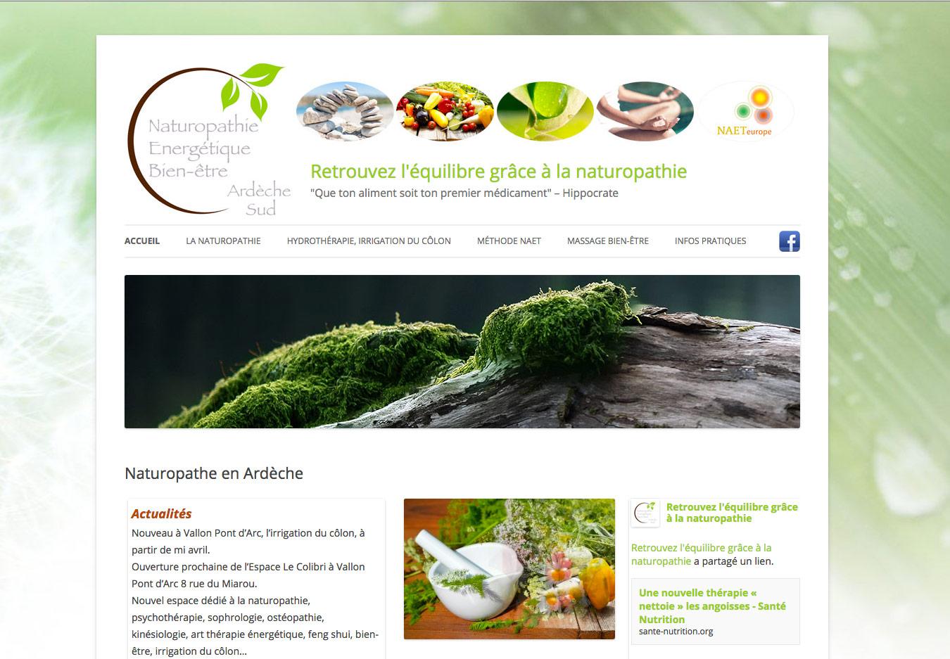 Conception de l'identité visuelle et d'un logo pour le site internet Naturopathie en Ardèche