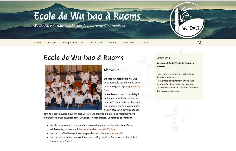 Refonte du site internet de l'école de Wu Dao de Ruoms