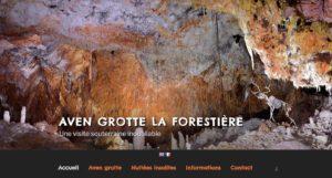 création du site internet l'Aven Forestière