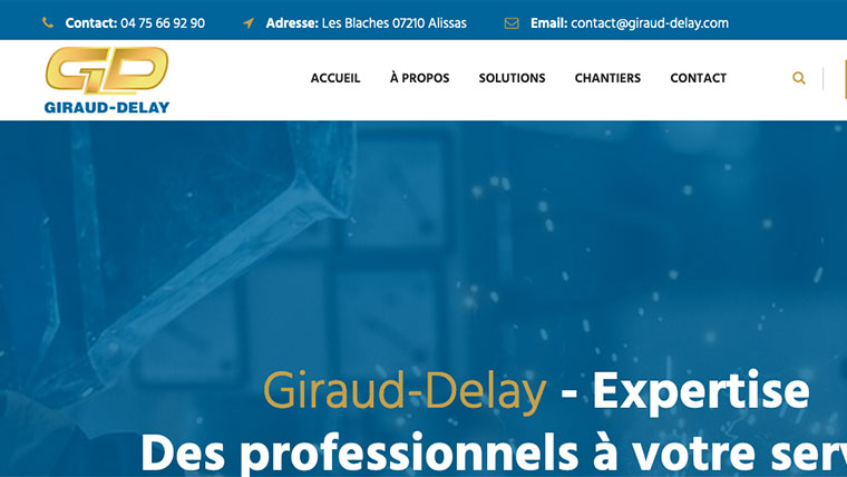 Création de site internet Giraud-delay